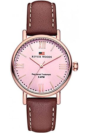 River Woods Reloj Analógico para Mujer de Cuarzo con Correa en Cuero RW340031