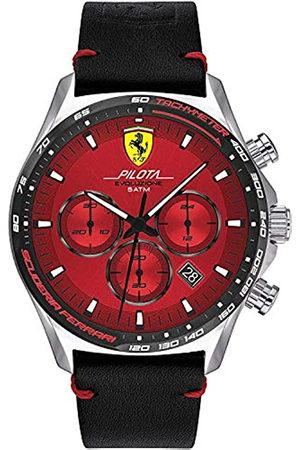 Scuderia Ferrari Hombre Relojes - Reloj Analógico para Hombre de Cuarzo con Correa en Cuero 0830713