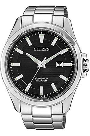 Citizen Reloj Analógico para Hombre de Cuarzo con Correa en Titanio BM7470-84E