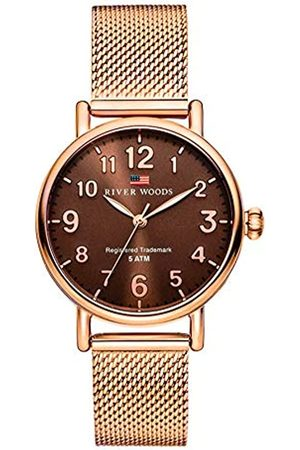River Woods Reloj Analógico para Mujer de Cuarzo con Correa en Acero Inoxidable RW340004