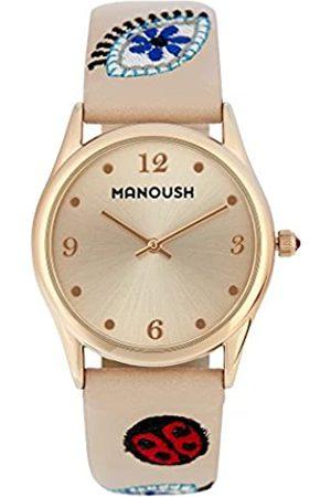 Manoush RelojAnalógicoparaUnisexAdultosdeCuarzoconCorreaenPUMSHPA02