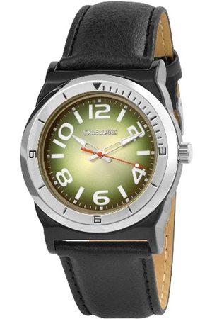 Excellanc Hombre Relojes - 292026500187 - Reloj analógico de caballero de cuarzo con correa de piel negra