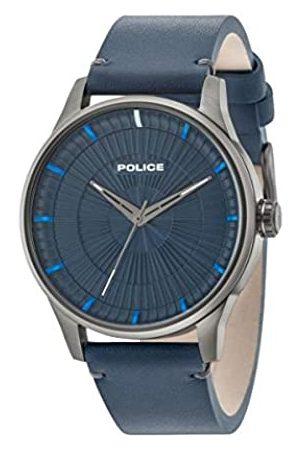 Police Reloj Análogo clásico para Hombre de Cuarzo con Correa en Cuero 15038JSU/03