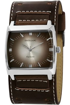 Excellanc Hombre Relojes - 293227000002 - Reloj analógico de caballero de cuarzo con correa de piel