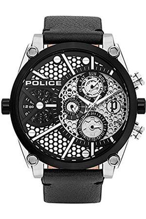 Police Relojes - Reloj Analógico para Unisex Adultos de Cuarzo con Correa en Cuero PL15381JSTB.04A