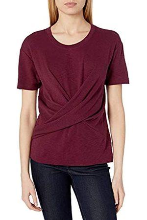 Daily Ritual Cotton Modal Stretch Slub Short-Sleeve Wrap T-Shirt Fashion-t-Shirts