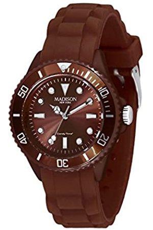 Madison New York Relojes - Reloj Análogo clásico para Unisex de Cuarzo con Correa en Caucho L4167-19