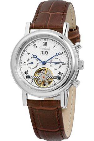 Engelhardt 385722629011 - Reloj analógico de caballero automático con correa de piel - sumergible a 50 metros