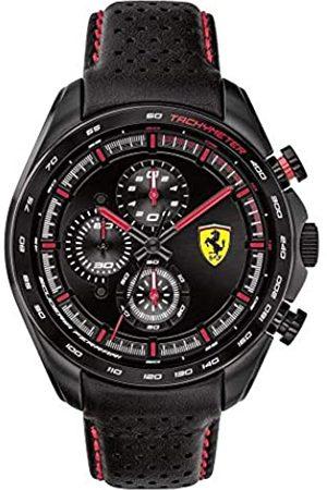 Scuderia Ferrari Hombre Relojes - Reloj Analógico para Hombre de Cuarzo con Correa en Cuero 0830647