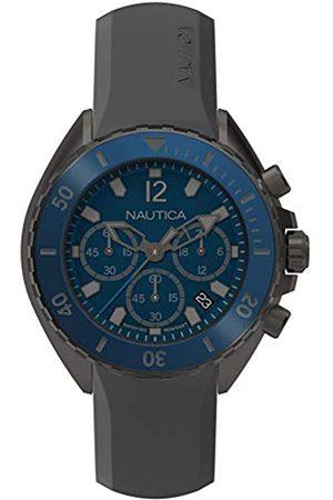 Nautica Hombre Relojes - Reloj Cronógrafo para Hombre de Cuarzo con Correa en Silicona NAPNWP003