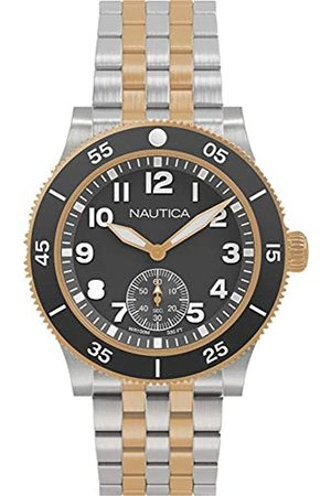 Nautica Hombre Relojes - RelojAnalógicoparaHombredeCuarzoconCorreaenAceroInoxidableNAPHST004