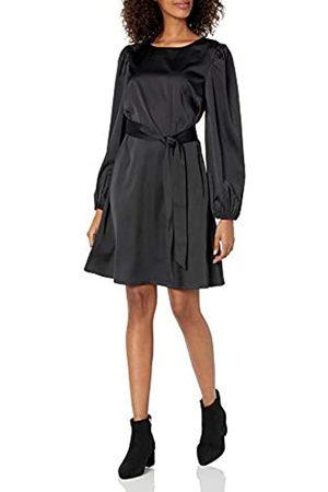 THE DROP Vestido para Mujer, Elástico Sedoso con Cinturón, por @shopdandy