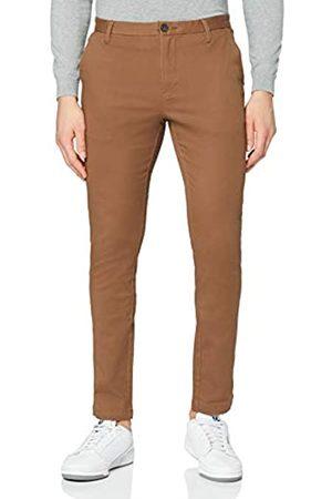 MERAKI Marca Amazon - Pantalones Chinos Estrechos Hombre, (Tobacco Brown), 33W / 34L