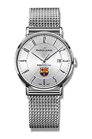 Maurice Lacroix Reloj Analógico para Hombre de Cuarzo con Correa en Acero Inoxidable EL1087-SS002-120-1