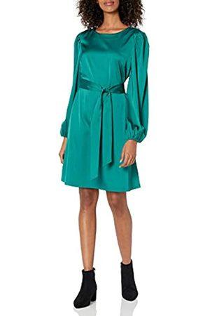 THE DROP Mujer Vestidos - Vestido para Mujer, Elástico Sedoso con Cinturón, por @shopdandy