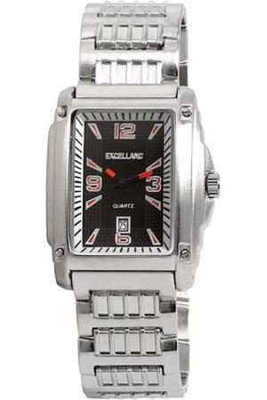 Excellanc 284021300059 - Reloj analógico de caballero de cuarzo con correa de aleación plateada