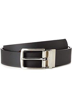 FIND Marca Amazon - Cinturón de Cuero Hombre, (Bronceado), S