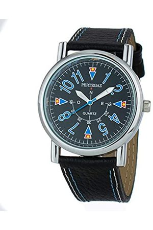 Pertegaz Hombre Relojes - Reloj Analógico para Hombres de Cuarzo con Correa en Cuero P33004-N