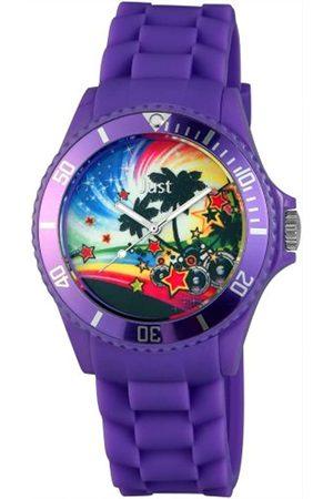 Just Watches Rubber Strap Collection 48-S5455-PR - Reloj analógico de Cuarzo Unisex