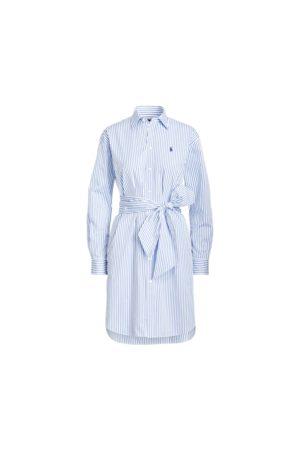 Polo Ralph Lauren Vestido camisero a rayas con cinturón