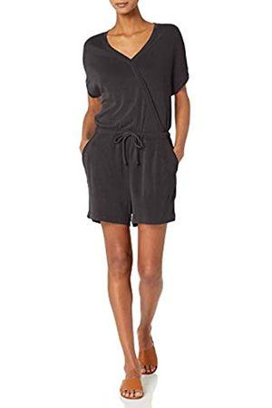 Daily Ritual Mujer Pantalones cortos - Sandwashed Modal Blend Short-Sleeve Overlap Romper Pantalones Cortos