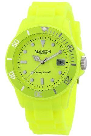 Madison Reloj Análogo clásico para Unisex de Cuarzo con Correa en Caucho U4503-50