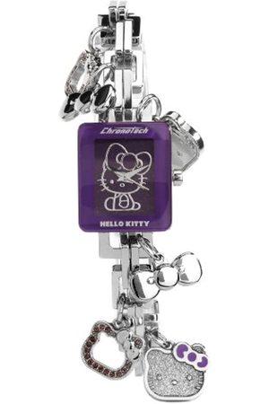 Hello Kitty CHRONOTECH for - Reloj analógico de mujer de cuarzo con correa de acero inoxidable plateada - sumergible a 30 metros