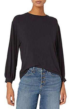 Daily Ritual Rayon Spandex Wide Rib Blouson-Sleeve Sweatshirt Athletic-Shirts