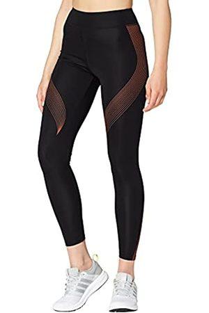 AURIQUE Marca Amazon - Bal181la18 - leggings deporte mujer Mujer, (Black/Autumn Glaze), 38