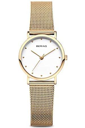 Bering Reloj Analógico Classic Collection para Mujer de Cuarzo con Correa en Acero Inoxidable y Cristal de Zafiro 13426-334