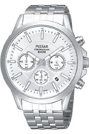 Seiko Hombre Relojes - Pulsar Modern PT3041X1 - Reloj cronógrafo de Cuarzo para Hombre, Correa de Acero Inoxidable Color (Agujas luminiscentes