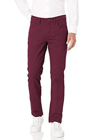 Goodthreads Marca Amazon - Slim-Fit 5-Pocket Chino Pant Pantalones informales, granate