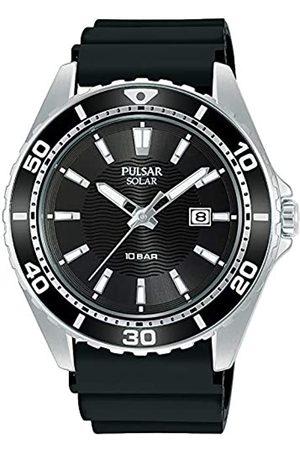 Seiko Pulsar Reloj Analógico para Hombre de Cuarzo con Correa en Silicona PX3245X1