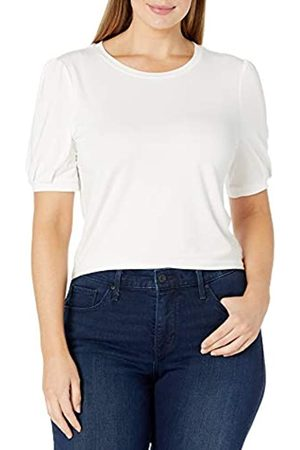 Daily Ritual Rayon Spandex Wide Rib Puff Sleeve Top Shirts