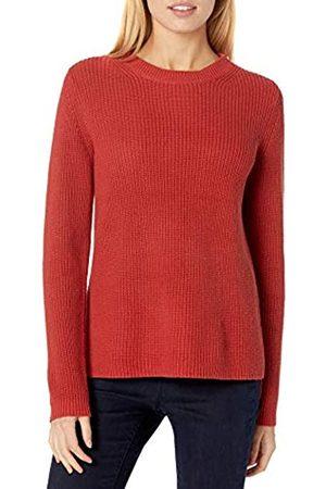 Goodthreads Cotton Half-Cardigan Stitch Crewneck Sweater Suéter