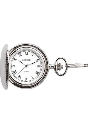 AURORE RelojAnalógicoparaHombredeCuarzoconCorreaenAceroInoxidableAP010