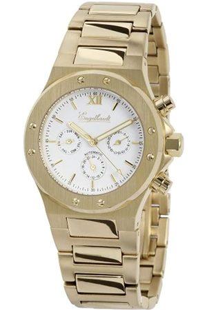 Engelhardt 386702028006 - Reloj analógico de caballero automático con correa de acero inoxidable dorada - sumergible a 100 metros