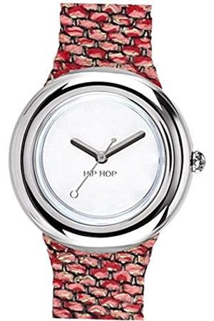 Hip Reloj Mujer Metal Esfera e Correa in silicio, Metal Rosado-Plata