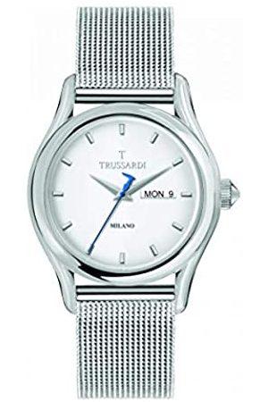 Trussardi Reloj Analógico para Hombre de Cuarzo con Correa en Acero Inoxidable R2453127010