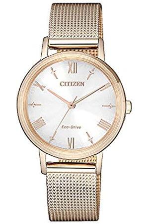 Citizen Reloj Analógico para Mujer de con Correa en Acero Inoxidable EM0576-80A