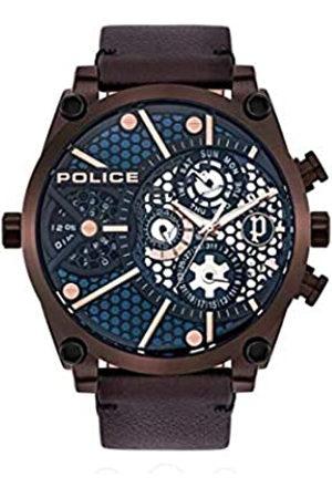 Police Reloj Analógico para Unisex Adultos de Cuarzo con Correa en Cuero PL15381JSBZ.03