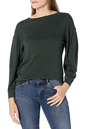Daily Ritual Mujer Camisetas y Tops - Pima Cotton and Modal Interlock Balloon-Sleeve Top Camisa M