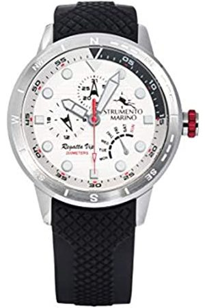 Strumento Marino Reloj Analógico Para Hombre de Cuarzo con Correa en Silicone Sm128S-Ss-Bn-Nr