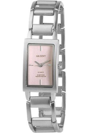 Akzent Mujer Relojes - SS7123800081 - Reloj analógico de mujer de cuarzo con correa de aleación plateada - sumergible a 30 metros