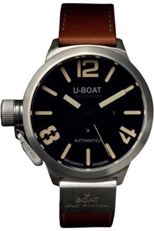 U-BOAT Classico A925 Nero 2083 - Reloj de Pulsera para Hombre, analógico, automático, Piel