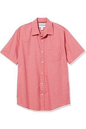 Amazon Regular-Fit Short-Sleeve Shirt Button-Down-Shirts, Coral/Punto