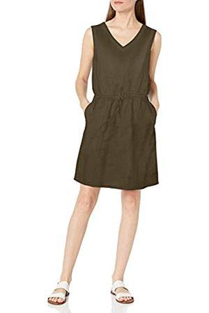 Amazon Sleeveless Linen Dress Vestido