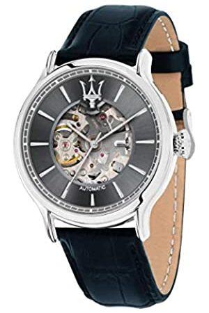 Maserati Reloj Analógico para Hombre de Automático con Correa en Cuero R8821118008