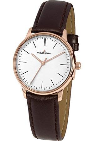 Jacques Lemans Reloj Analógico para Hombre de Cuarzo con Correa en Cuero N-217D