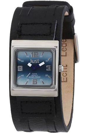 Just Watches Just Just - Reloj analógico de caballero de cuarzo con correa de piel negra - sumergible a 30 metros